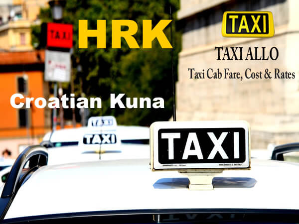 Taxi cab fare in Croatia