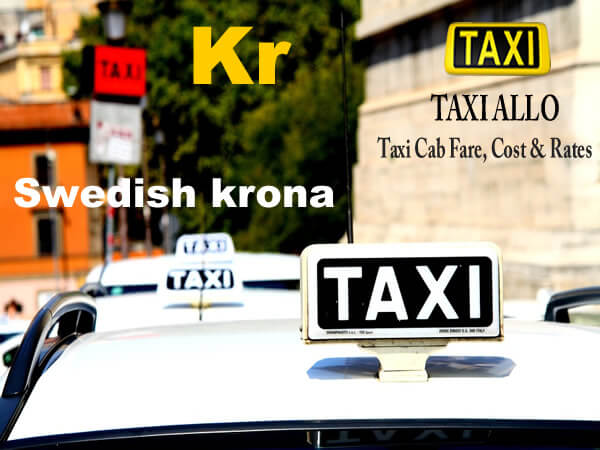 Taxi cab fare in Sweden