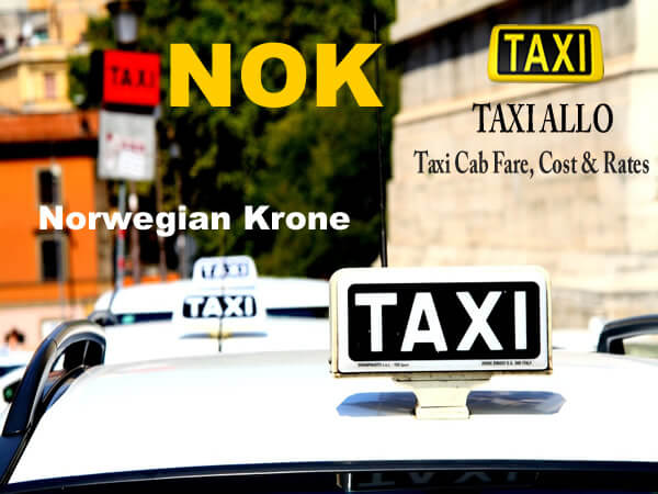 Taxi cab fare in Norway